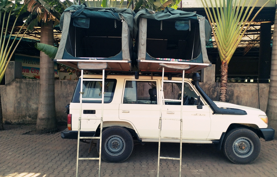 Double roof top tent car - carhire uganda