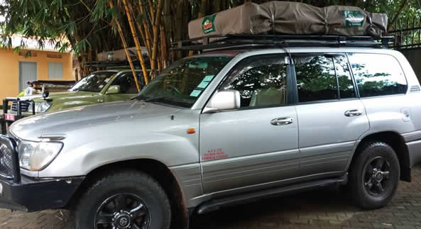 Roof Tent Land Cruiser V8 VX 4x4 cars in uganda- carhire uganda