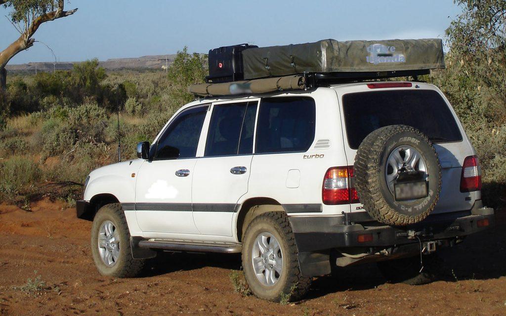 Roof Tent Land Cruiser V8 VX carhire uganda
