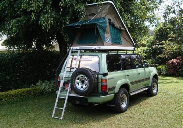 Roof Tent Land Cruiser V8 VX uganda carhire